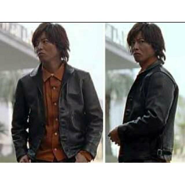 TENDERLOIN(テンダーロイン)のキムタク テンダーロイン T-HIDE レザー ジャケット Sサイズ メンズのジャケット/アウター(レザージャケット)の商品写真
