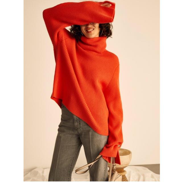 Mila Owen(ミラオーウェン)のMila Owen ニット オレンジ レディースのトップス(ニット/セーター)の商品写真