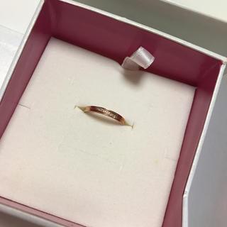 ピンクゴールド リング ダイアモンド(リング(指輪))
