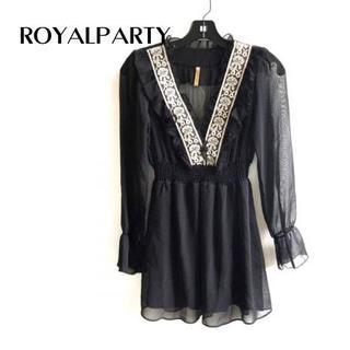 ROYAL PARTY - ロイヤルパーティー ワンピース サイズ38 M レディース美品 黒