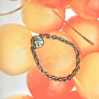 4号 orefice オレフィーチェ 指輪 チェーンリング ダイヤ K18WG(リング(指輪))