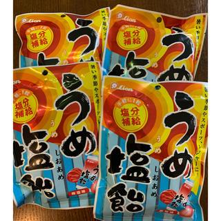 ライオン(LION)のLion うめ塩飴 4袋セット(菓子/デザート)