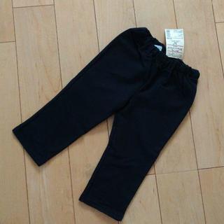 MUJI (無印良品) - 【新品】無印良品 パンツ ブラック カットソー 80