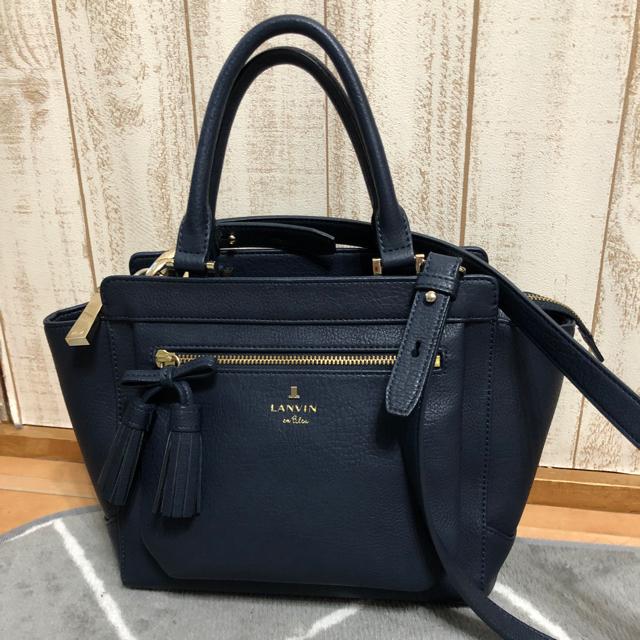 LANVIN en Bleu(ランバンオンブルー)のランバンオンブルー ショルダー ハンド バッグ ネイビー レディースのバッグ(ショルダーバッグ)の商品写真