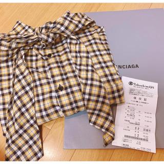 バレンシアガ(Balenciaga)のBALENCIAGA チェックシャツ(シャツ/ブラウス(長袖/七分))