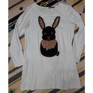 フラボア(FRAPBOIS)のフラボア うさぎTシャツ(長袖)(カットソー(長袖/七分))