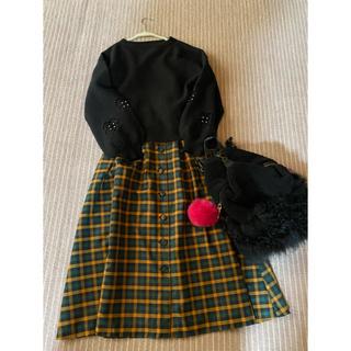 GRACE CONTINENTAL - グレースコンチネンタル チェックロングスカート
