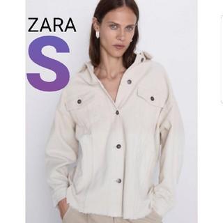 ZARA - ZARA  コーデュロイジャケット エクリュ