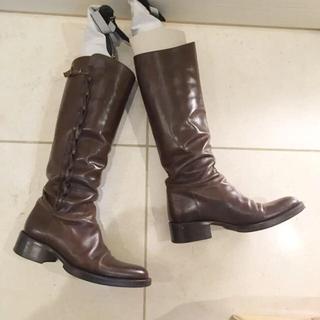 サルトル(SARTORE)のSARTORE サルトル❤︎サイドレース ロングブーツ 茶色(ブーツ)