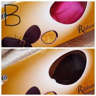 二枚*B*ヌーブラ*リボンブラ*黒&ピンク(ヌーブラ)