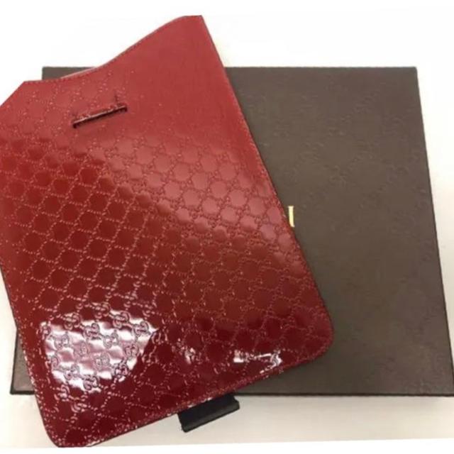 Gucci - 【美品】グッチ マイクログッチ エナメル アイパッド ケース 正規品の通販