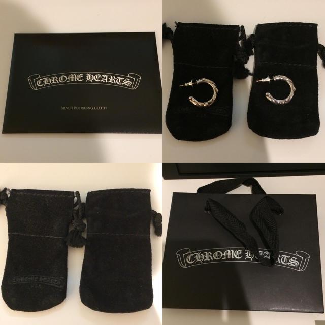 Chrome Hearts(クロムハーツ)のスクロールフープピアス クロムハーツ 正規品 2本両耳セット 未使用に近い メンズのアクセサリー(ピアス(両耳用))の商品写真