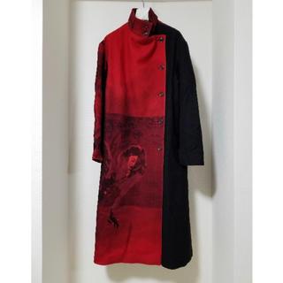 Yohji Yamamoto - yohji yamamoto 18-19AW 赤フラノ右前ドレス サイズ2
