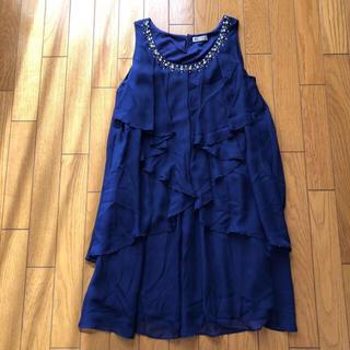 アクシーズファム(axes femme)のアクシーズファム ブルー ワンピース ドレス(その他ドレス)