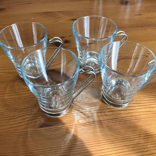 ボルミオリロッコ(Bormioli Rocco)のBormioli Rocco  カプチーノ 中古美品 4個セット(グラス/カップ)