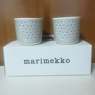 marimekko - 新品未使用 ラテマグ プケッティ ベージュ 人気 ペア 箱あり マリメッコ