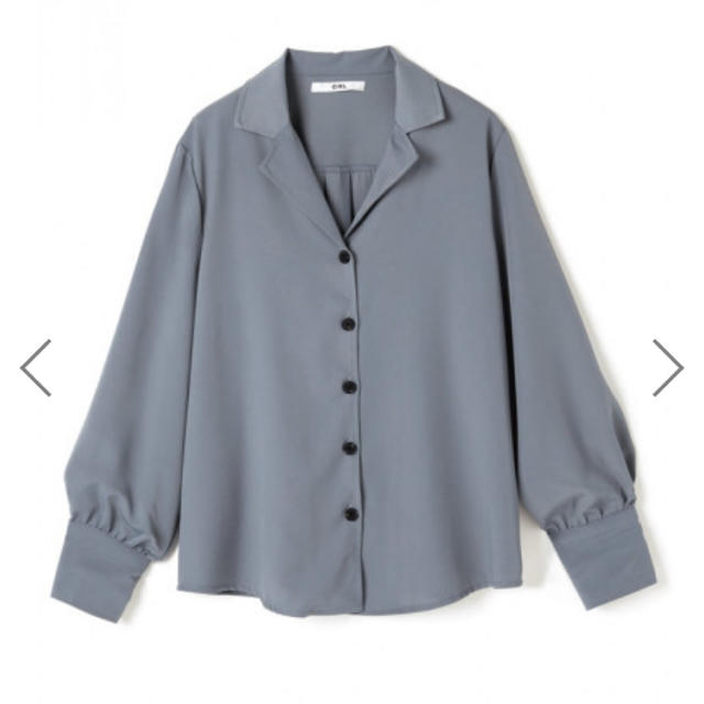 GRL(グレイル)のオープンカラーベーシックシャツ ブルー レディースのトップス(シャツ/ブラウス(長袖/七分))の商品写真
