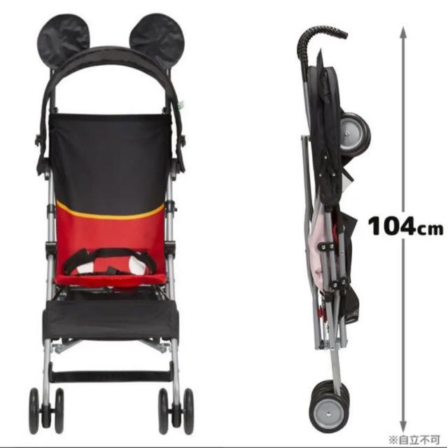 Disney(ディズニー)のミッキーマウス バギー  キッズ/ベビー/マタニティの外出/移動用品(ベビーカー/バギー)の商品写真