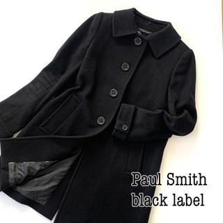 Paul Smith - 【ポールスミスブラックレーベル】2wayステンカラー メルトンコート ブラック