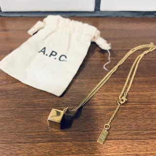 アーペーセー(A.P.C)のA.P.C キューブネックレス(ネックレス)