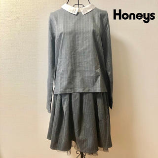 HONEYS - 【ハニーズ】グレーストライプのセットアップ