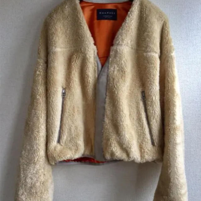 TOMORROWLAND(トゥモローランド)の美品☆MACPHEE  マカフィー ボアブルゾン コート レディースのジャケット/アウター(ブルゾン)の商品写真