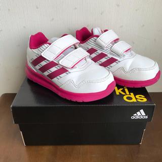 adidas - アディダス ベビー キッズ スニーカー 13cm 白 ピンク