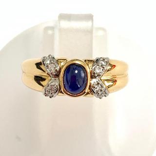 k18yg pt900 サファイア ダイヤモンド リング 指輪 大特価!(リング(指輪))