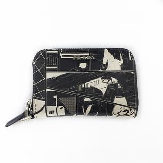 プラダ(PRADA)のPRADA コミックプリント レザー カードケース(折り財布)
