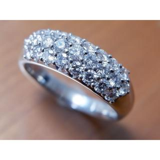 Pt900 ロイヤルアッシャー ダイヤモンド 1.50ct パヴェ リング 22(リング(指輪))