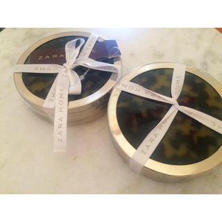 ザラホーム(ZARA HOME)の【新品】ZARA HOME コースター2SET(テーブル用品)