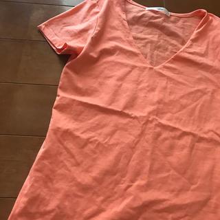 オレンジ半袖ストレッチティシャツ(Tシャツ(半袖/袖なし))