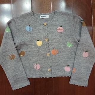 familiar - 美品☆familiar りんご カーディガン マルチカラー 110