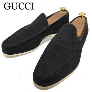 Gucci - 美品【GUCCI】約25.5cm GGキャンバス スリッポン スニーカー メンズ