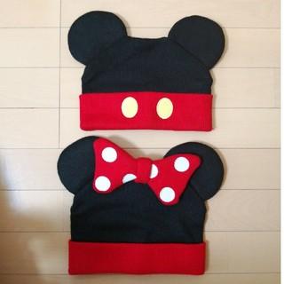 Disney - ミッキー・ミニーニット帽セット