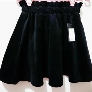 新品 Avail ベロア フリル フレア ミニ スカート♥S しまむら