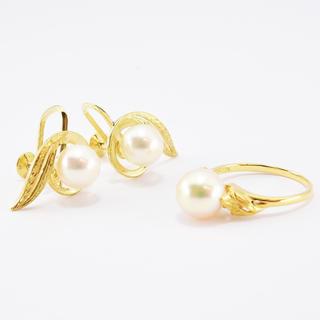 MIKIMOTO - ミキモト リング イヤリング セット 指輪 パール あこや真珠  約13.5号