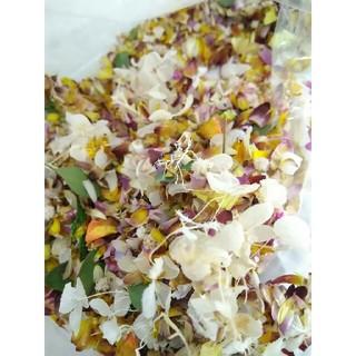 約2.5g ドライフラワー 花材 材料パーツ 花びら 花がら 葉っぱ(各種パーツ)