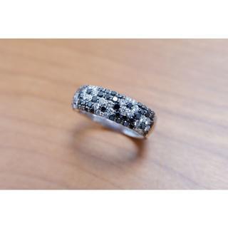K18 WG ポンテヴェキオ ダイヤモンド リング ブラックダイヤモンド (リング(指輪))