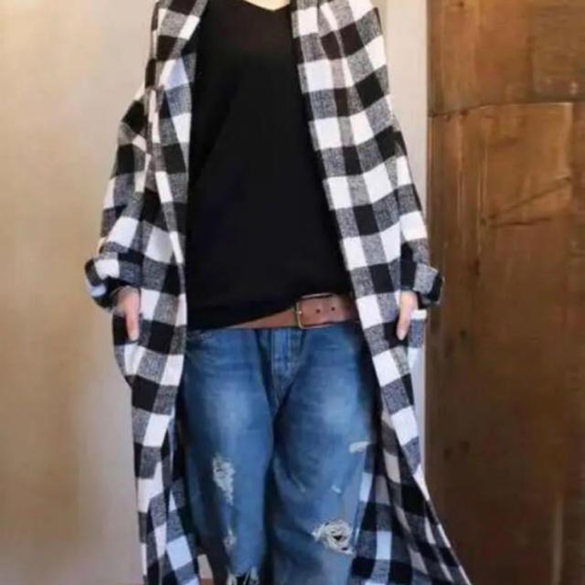 antiqua(アンティカ)のアンティカ  チェック柄コート レディースのジャケット/アウター(その他)の商品写真