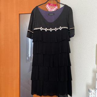 ユナイテッドアローズ(UNITED ARROWS)のビジュー付 ドレス(ミディアムドレス)