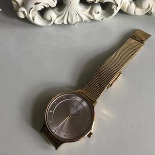 SKAGEN ゴールド腕時計