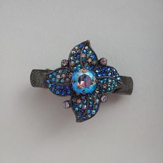 acca - 花モチーフのミニバレッタ ブルー系