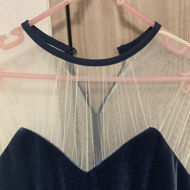 Ameri VINTAGE(アメリヴィンテージ)のameri vintage チュールタイトドレス レディースのフォーマル/ドレス(ロングドレス)の商品写真