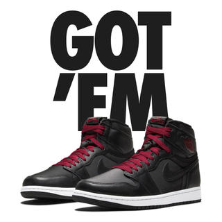 NIKE - NIKE AIR JORDAN 1 RETRO HIGH BLACK STAIN