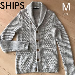 SHIPS - SHIPS シップス カーディガン Mサイズ ライトグレー