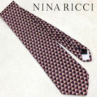 ニナリッチ(NINA RICCI)の美品 NINA RICCI ܤ * 高級シルク 総柄 ネクタイ レトロ モード(ネクタイ)