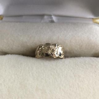 ハワイアンジュエリーピンキーリング14Kホワイトゴールド(リング(指輪))