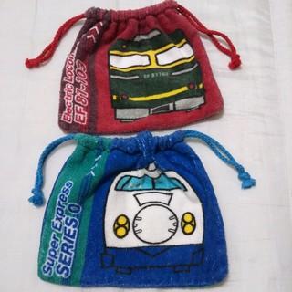 ジェイアール(JR)の鉄道巾着  2枚セット(弁当用品)