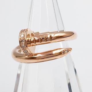 Cartier - 【仕上済】カルティエ ジュストアンクルリング PG 9号 ダイヤ リング 指輪